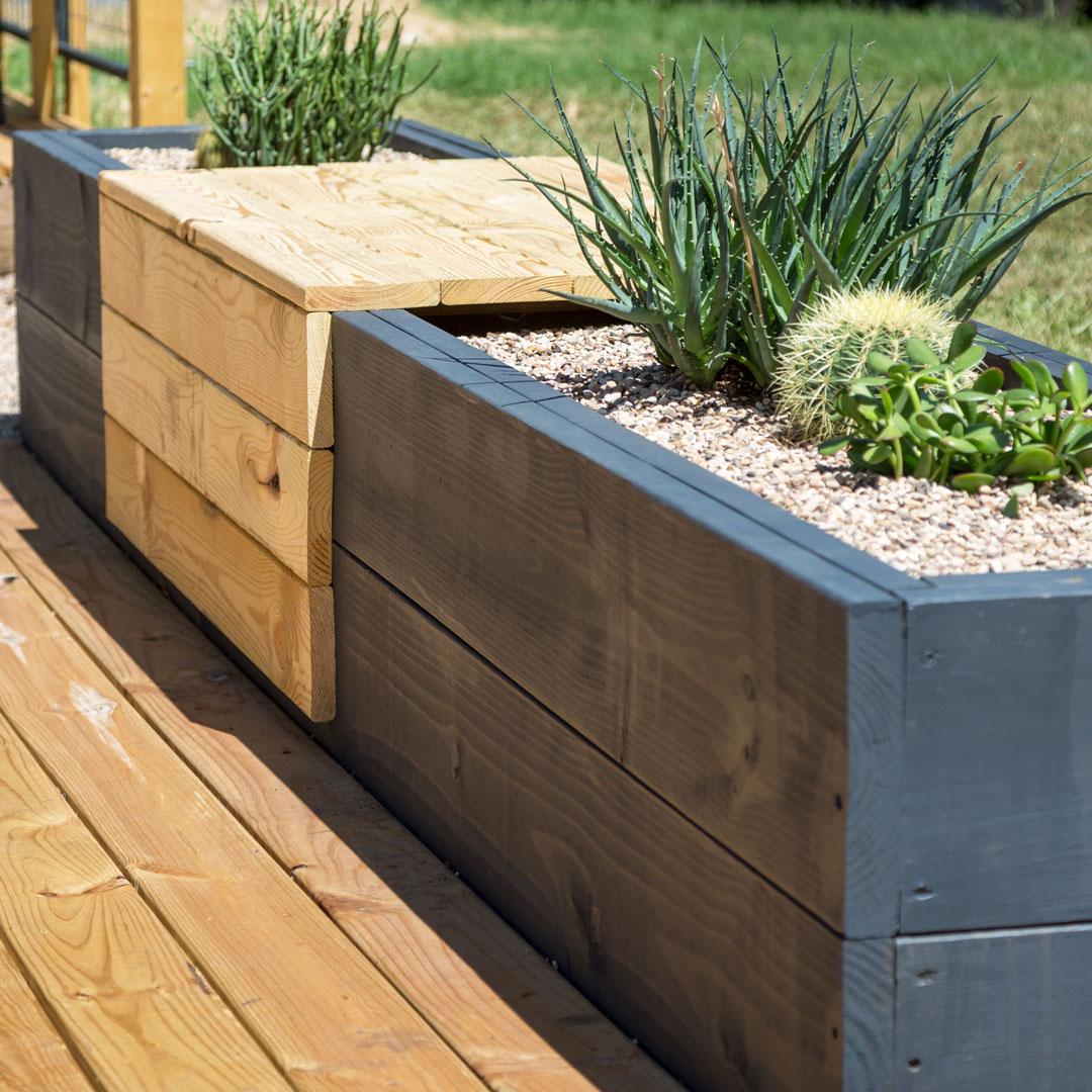 patio planter bench
