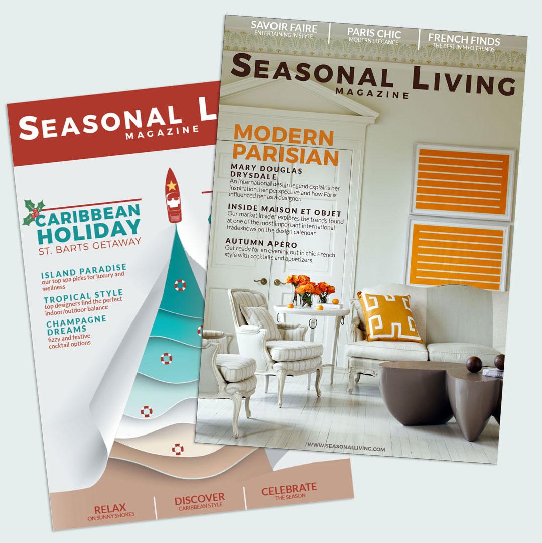 seasonal living magazine covers