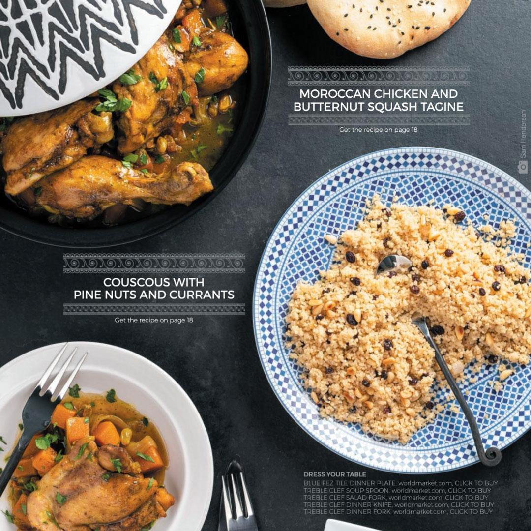 mediterranean dinner layout