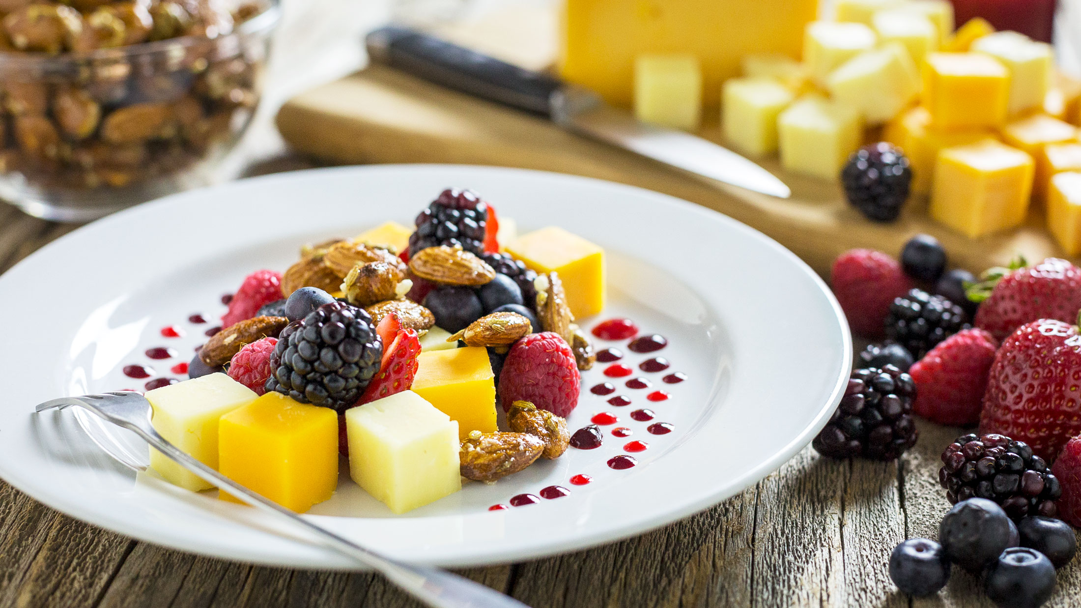 cheese and berry plate