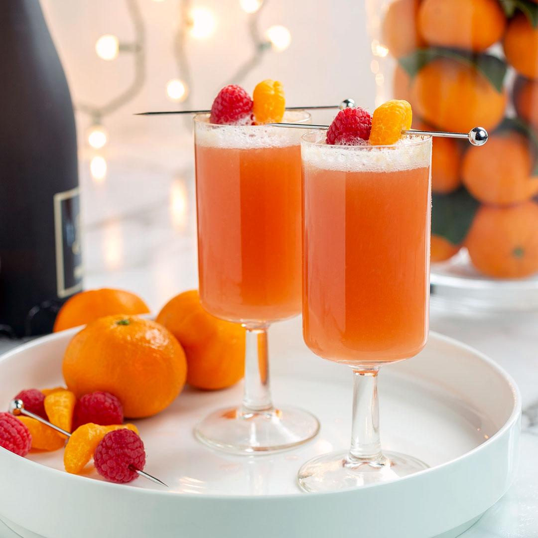 clementine raspberry mimosa
