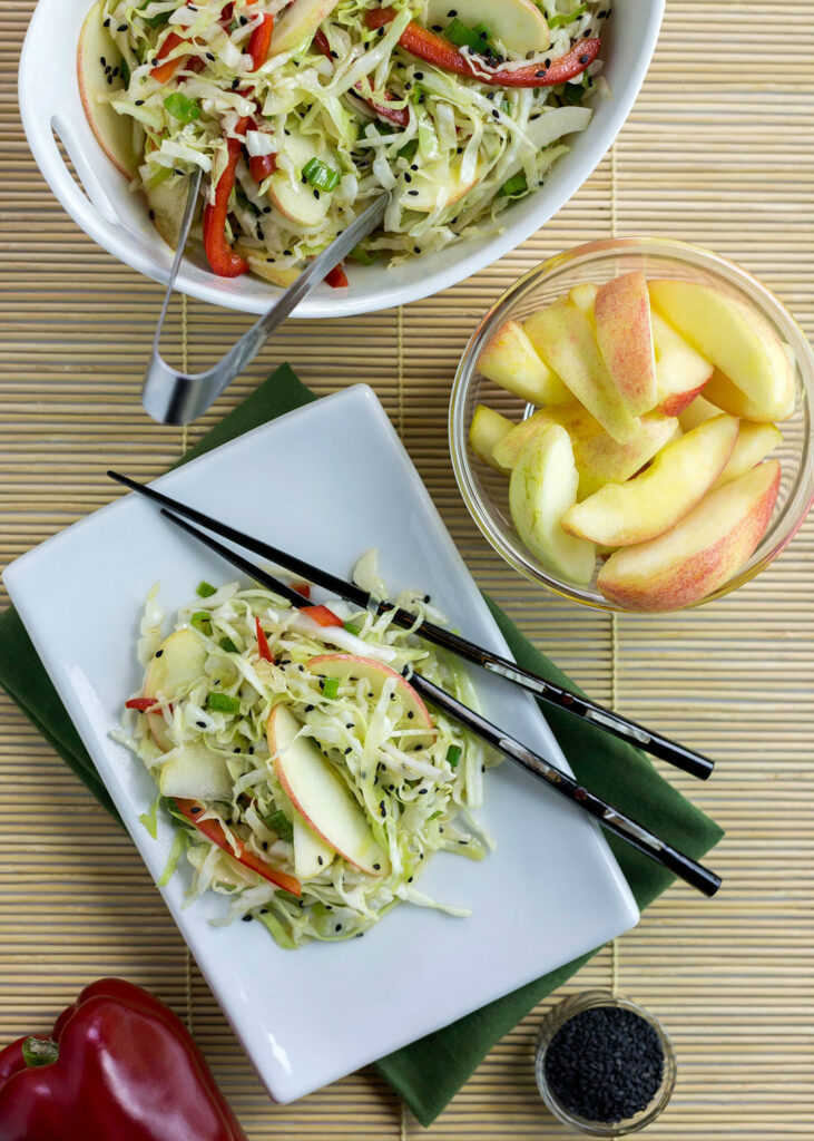 asian apple salad