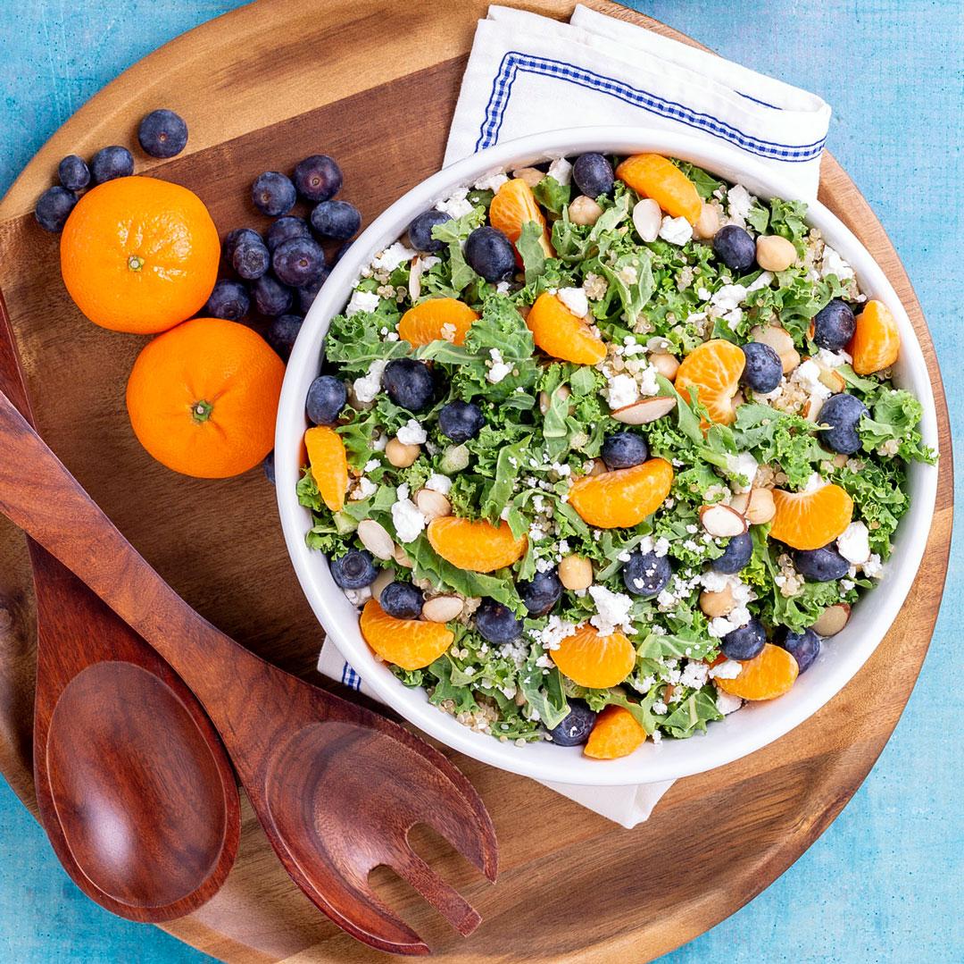 clementine kale salad