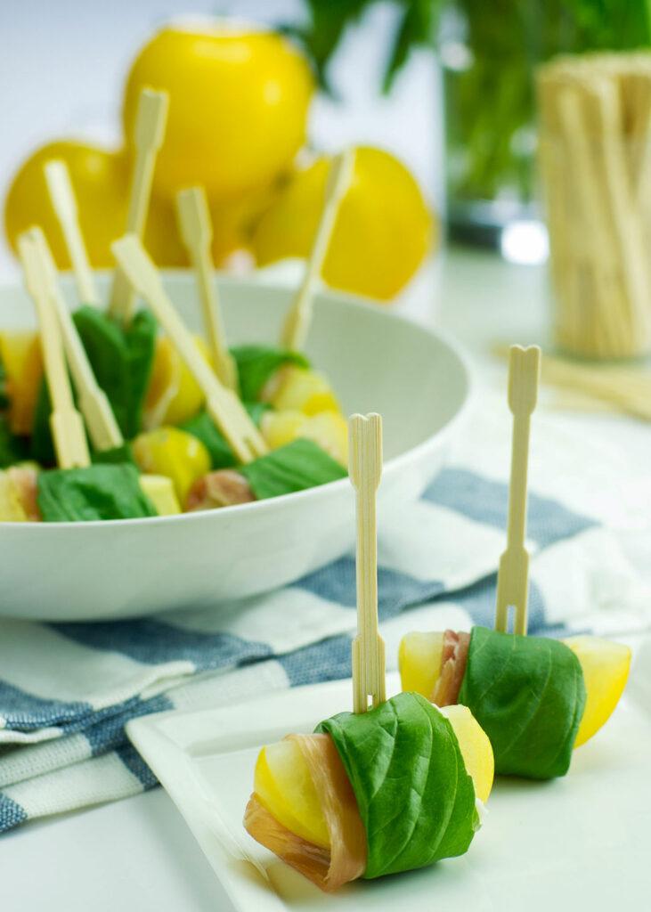 yellow tomato appetizer